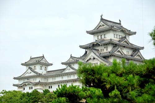 Himeji Castle on the hilltop