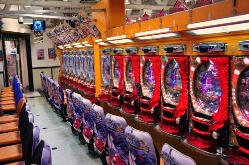 Pachinko parlor, a bit like slot machines