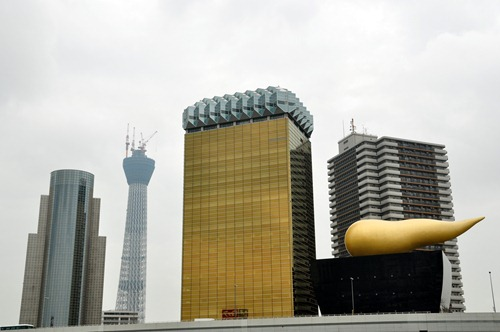 Asahi Super Dry Hall, a.k.a. Golden Turd