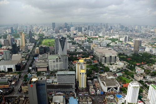 Bangkok view from the Baiyoke Sky Hotel