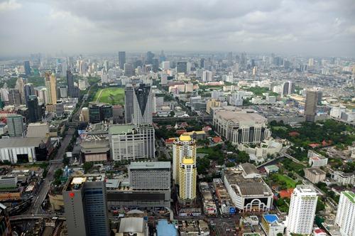 Bangkok view from the Baiyoke Sky Hotel