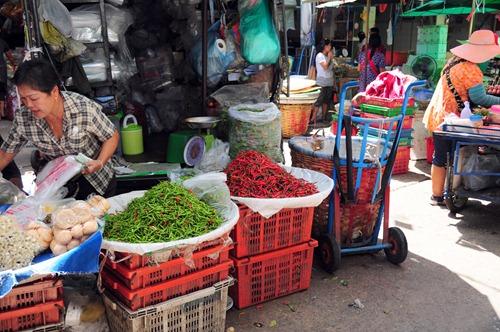 Bangkok chilies at a farmers' market