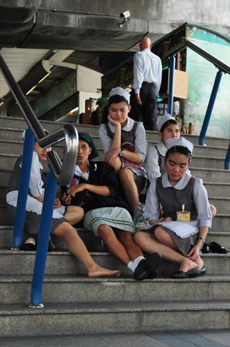 Everyone wears a uniform in Bangkok