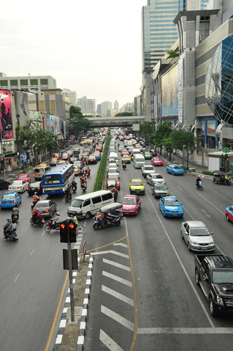 Crazy Bangkok traffic at all times of day