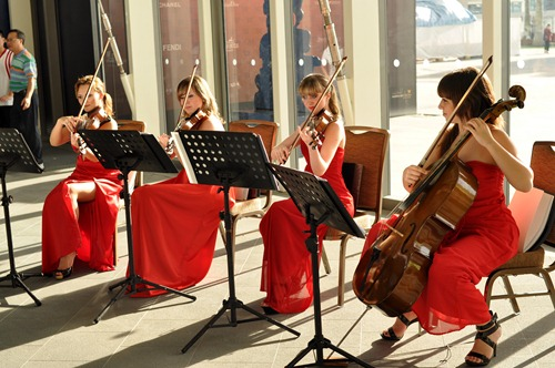 Red dress string quartet