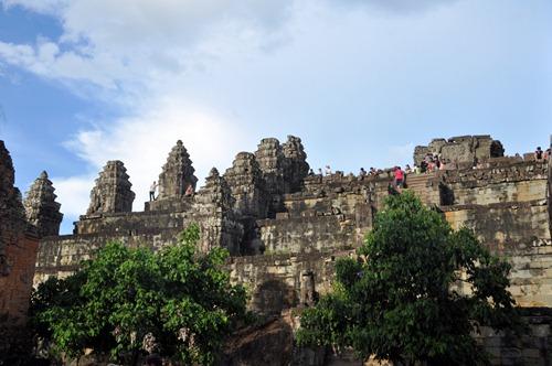 Sunset viewing temple at Angkor park