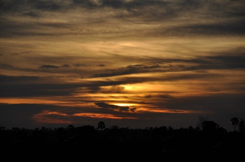 Sunset over Siem Reap, Cambodia