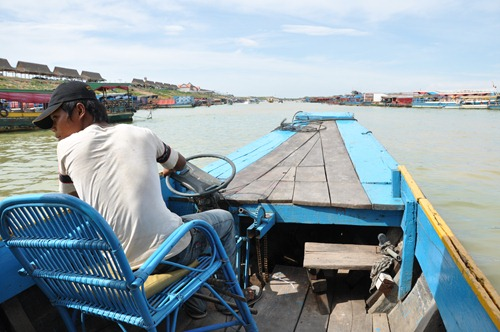 Boat on Tonle Sap