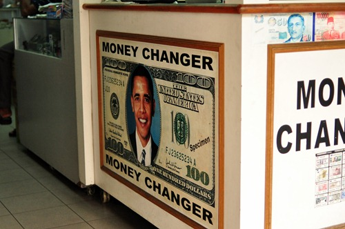 Barack Obama on a $100 bill