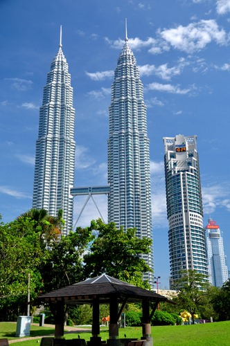 KL's Petronas twin towers