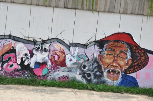 Cool graffiti in Kuala Lumpur