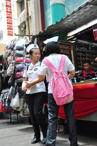 Locals in Petaling Street market