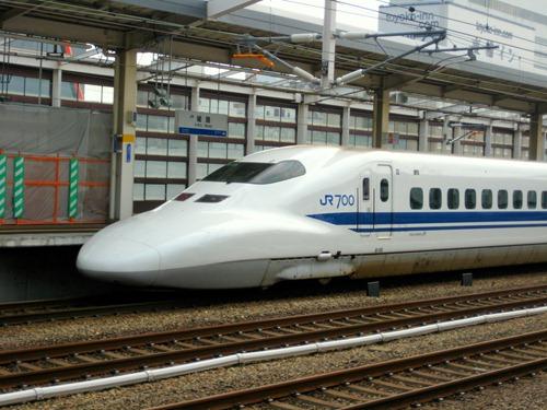 JR Line Shinkansen train in Japan