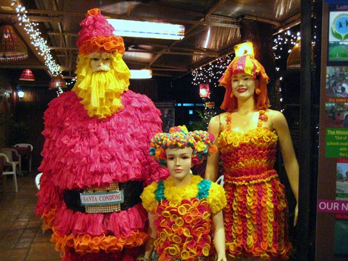 Condom mannequins at Cabbages and Condoms