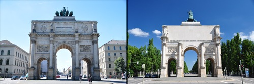 Siegestor Comparison
