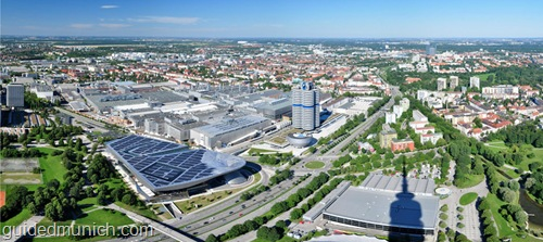 BMW buildings as seen from Olympiaturm