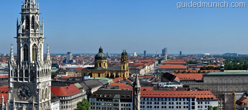 View looking past Marienplatz, Munich
