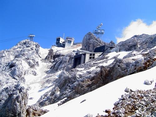 Zugspitze seen across the glacier