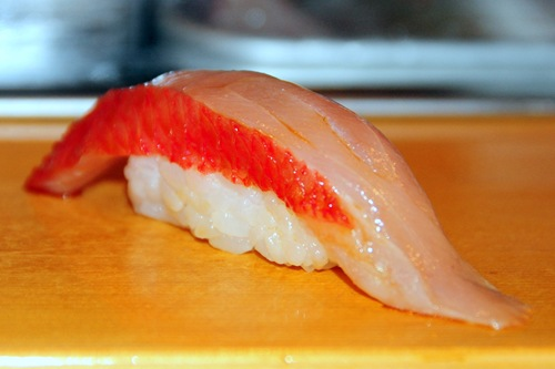 Sushi Dai - red snapper?