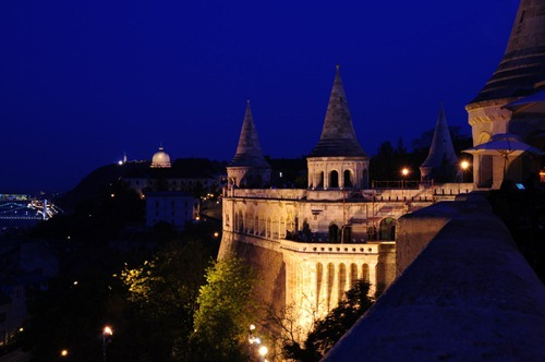 Budapest - Castle at Night