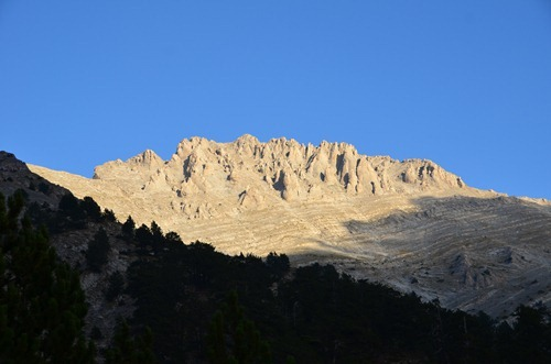 Ridge of peaks at Mount Olympus, Greece
