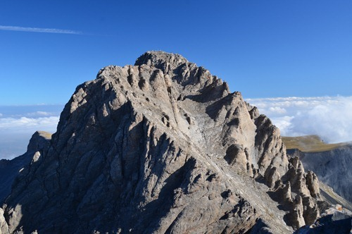 Mytikas - highest peak in Greece at 2917m