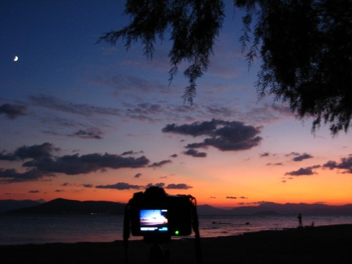 Aegina Sunset Timelapse Setup