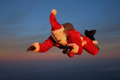 Santa in freefall