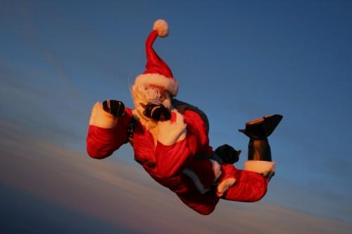 Santa's beard a freefall hazard
