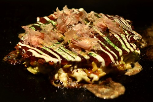 Okonomiyaki in Osaka