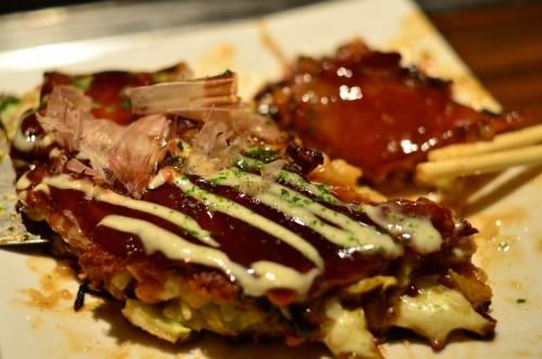Ponpocotei Okonomiyaki Closeup