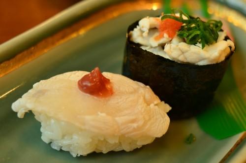 Fugu sushi closeup